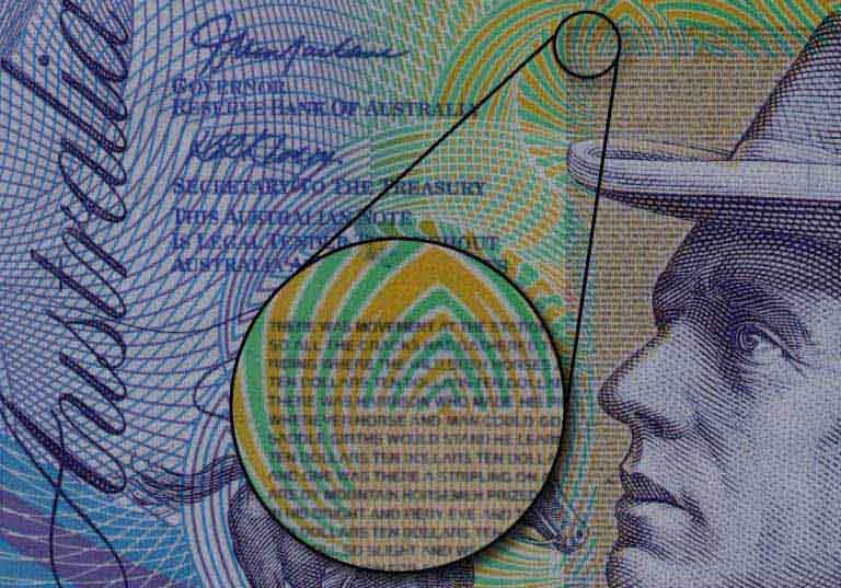 Image result for Microprinting for banknotes