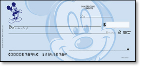Personal check from Deluxe with Disney design