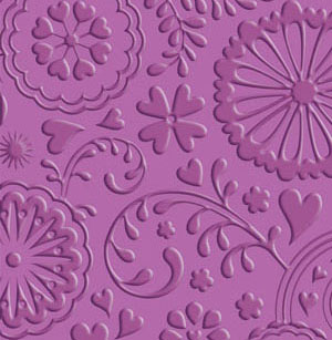 Wallpaper with embossing