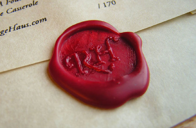 Wax seal on a document