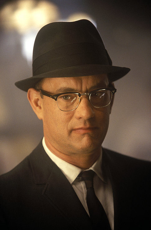 Actor Tom Hanks as F.B.I. agent Carl Hanratty