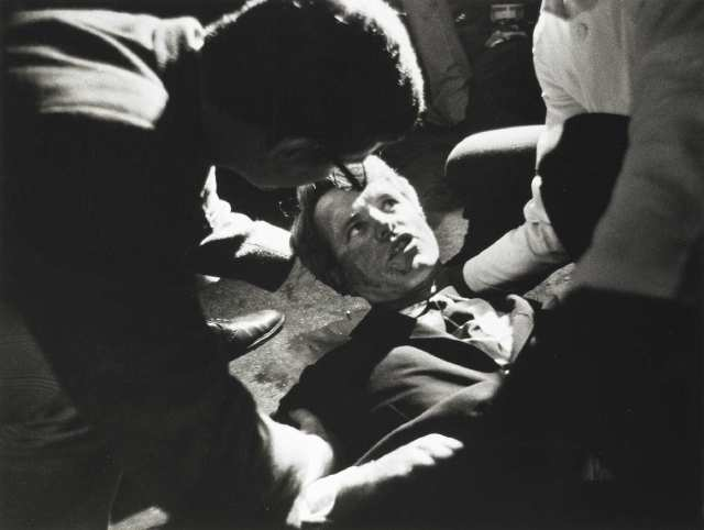 Robert Kennedy lying down shot in the Ambassador Hotel (Los Angeles)