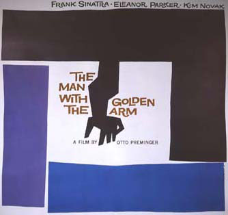 Movie poster of the graphic designer Saul Bass