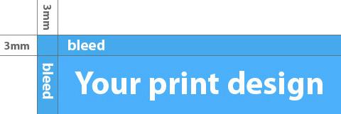 bleeding printing