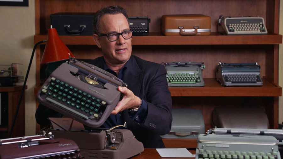 Actor Tom Hanks and his typewriter collection
