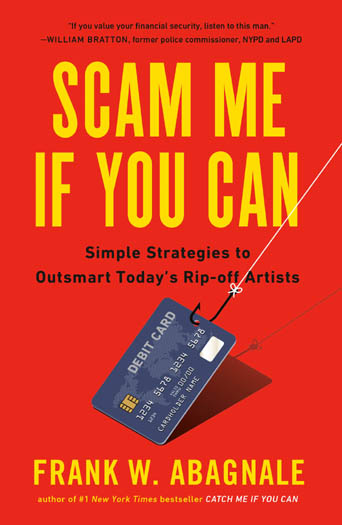 Cover of the Frank Abagnale book 'Scam Me If You Can'