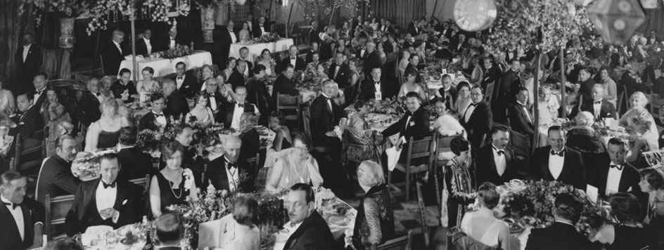 First Academy Awards (Oscars) ceremony in the Roosevelt Hollywood hotel (1929)