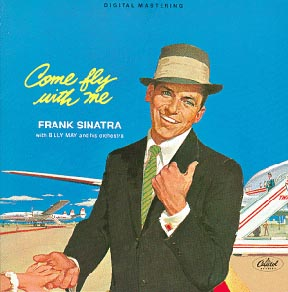 Album cover of the Frank Sinatra LP 'Come Fly with Me'